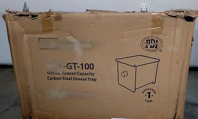 BK Resources BK-GT-100 Grease Trap Carbon Steel Interceptor 100lb capacity