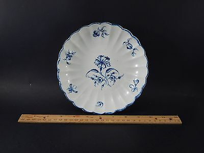 Rare Antique First Period Dr. Wall Worcester Gillyflower Scalloped Bowl c. 1770