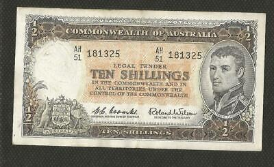 1961 Ten Shillings - Coombs/wilson - Reserve Bank - Extremely Fine Condition