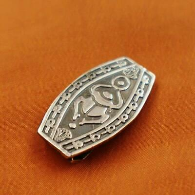 Antique Egyptian Solid Silver Money Holder Clip Ancient Beetle Scarab...STAMPED