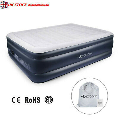 Sleigh Bed HIGH RAISED AIR BED MATTRESS AIRBED INFLATABLE+ELECTRIC PUMP
