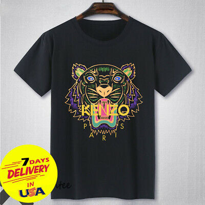 0cda637e HOT 1Kenzo Paris Tiger Logo T Shirt 1Kenzo Men Black Shirt Size S-3XL