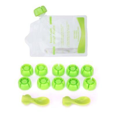 180ml Zipper Stand Up Pouch Thick Bags Odorless Food Storage Bag 10Pcs
