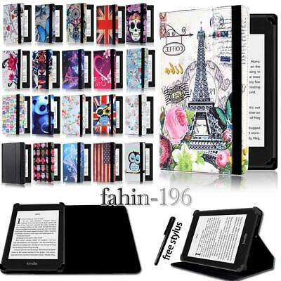 For Amazon kindle 4/5/7/8/9 Paperwhite 1/2/3/4 - Folio Stand Leather Cover Case