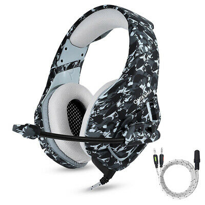 3.5mm Gaming Headset Mic On Ear Headphone Bass Stereo Surround for PSP Xbox O2W7