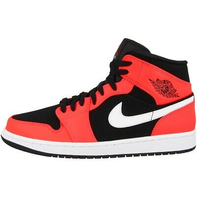 outlet store 575b7 fb3e5 Nike Air Jordan 1 MID Schuhe Basketball High Top Sneaker black red 554724 -061