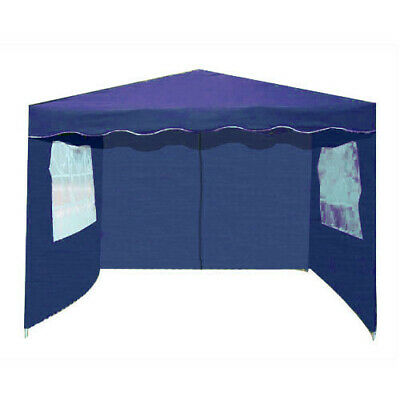 PACK OF 3 VOCHE® BLUE 3m x 3m GARDEN GAZEBO REPLACEMENT SIDE WALLS PANELS SET
