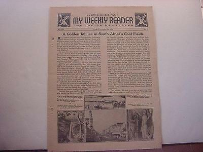 Vintage Nov 2-6,1936 MY WEEKLY READER-5th Level-South Africa's Gold Fields