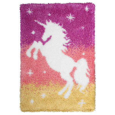 Orchidea Latch Hook Rug Kit - Unicorn - Needlecraft Kits - FREE UK P&P