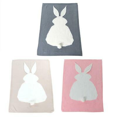 Baby Cute Shower Rabbit Knitted Blanket Kids Nap Blanket Child Bedding Quilt