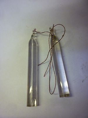 Two Antique Banjo Barometer Tube Weights (D)