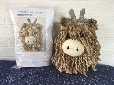 Highland Cow Double Toilet Roll Holder Crochet Kit. Excellent Gift