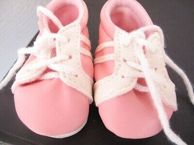 dolls pink and white trainer shoes fits baby born dolls 16 in
