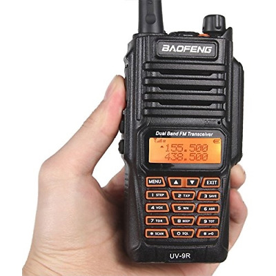 Baofeng Uv-9R Walkie Talkie 5W Uhf Vhf Ip67 Radio Interfono Ricetrasmittente