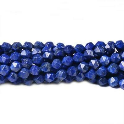 Lapis Lazuli Faceted Nugget Beads 6mm Blue 70+ Pcs Dyed  Handcut DIY Jewellery
