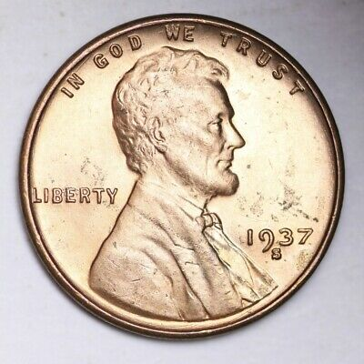 1937-S Lincoln Wheat Small Cent CHOICE BU FREE SHIPPING E229 T