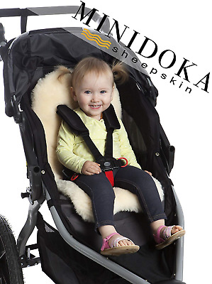 Lambskin Stroller Liner/Seat Cover/Naturally Breathable for Year Round Comfort,