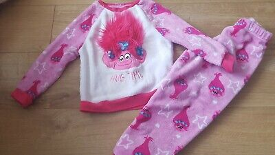 Trolls Poppy Pyjamas Girls Age 5-6 Years &  Trolls poppy slippers size 10 (28)