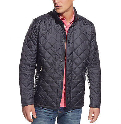 Barbour Men's Charcoal Gray Flyweight Chelsea Quilted Full Zip Jacket $229