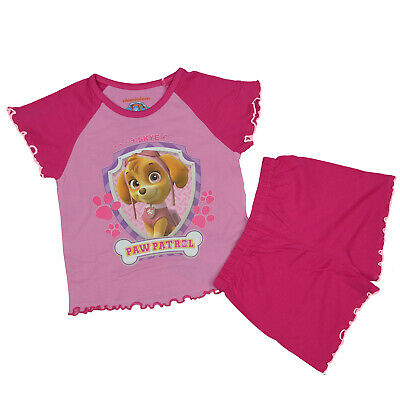 PAW PATROL Girls/Toddlers   SHORT Pyjama Set: Pink/Blue  18 mths 2-3 3-4 4-5 yrs