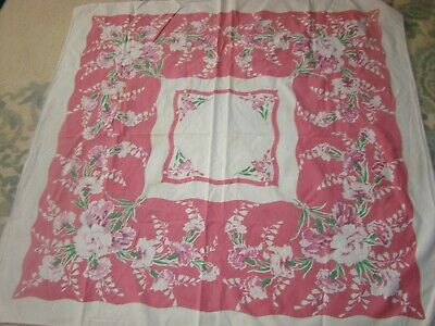 1940'S Vintage 100% Cotton Tablecloth With Holes & Light Stains, Cutter