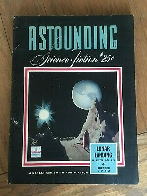 Astounding Science Fiction - Bedsheet fiction pulp Oct 1942 - Hubbard, van Vogt