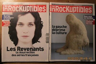 """2 """"Les Inrockuptibles"""" / BARBARA, SYRIE, GAZA sous les bombes, MADNESS,"""