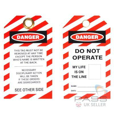Lockout Tagout Tags - 'Do Not Operate - My Life is on the Line' - Pack of 10