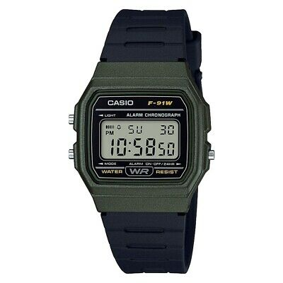 Casio Classic Digital LCD Watch with Stopwatch, Alarm, Timer etc. F-91WM-3AEF