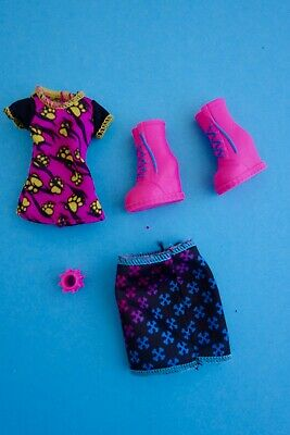 Monster High doll clothes  Howleen Wolf Creepeteria top skirt pink boots