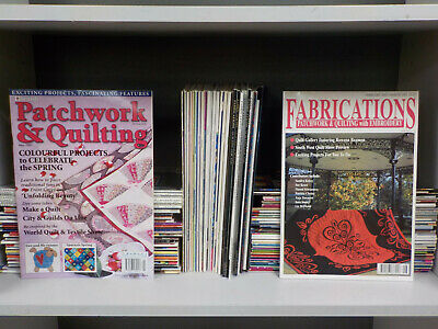 Various Patchwork And Quilting Magazines - 88 Mags Collection! (ID:4698)