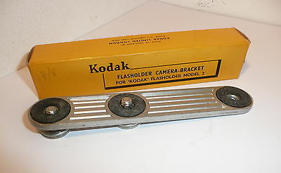 KODAK FLASHOLDER CAMERA-BRACKET , 14cm LONG  , BOXED .