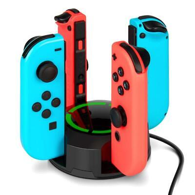 Chargeur pour Nintendo Switch Manettes Joy-Con, NesBull Support de 4 en 1...