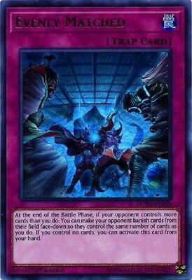 Evenly Matched  DUPO-EN099  Ultra Rare  YuGiOh Cards