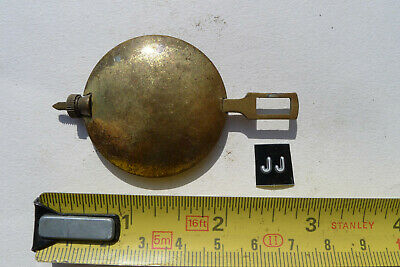 jj) MANTEL clock pendulum chiming/striking Original Vintage/Antique Brass Bob