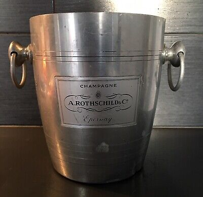Vintage French Rothschild Champagne Ice Bucket - Wine Cooler - Rare!