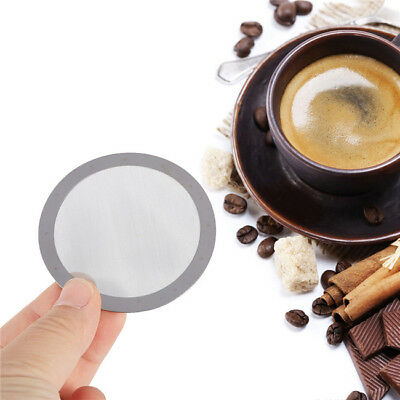 Ultra Fine Metal Coffee Filter Reusable Stainless Steel Mesh Gift New LD