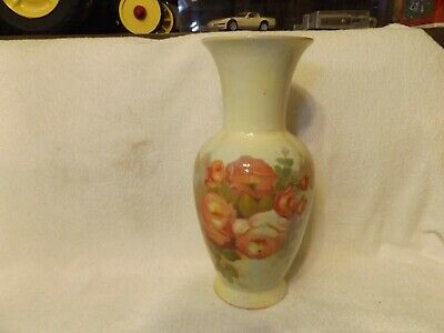 "Antique Glassware--Art Deco Style--Antique Floral Vase--14"" Tall--Very Nice"