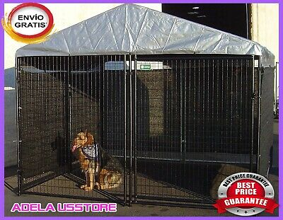 Big Dog Kennel Cage x Pet Wind,Screen Extra Large Outdoor Heavy Duty Portable N