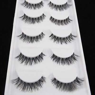 5 Pairs Multipack Mink Eyelashes Extension Wispy Fluffy Long Natural Eye Lashes
