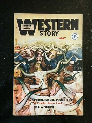 Western Story - UK reprint Pulp - May 1952 - Superb condition - RARE Walt Coburn