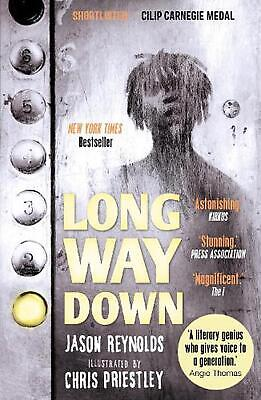 Long Way Down by Jason Reynolds Paperback Book Free Shipping!