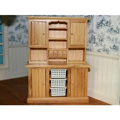 1/12 The Wonham Collection Dolls House Pine Kitchen Wooden Dresser K79