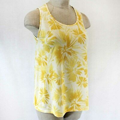 95e31d9b28 Catherines Plus Yellow Floral Top Shirt Blouse Spring Summer 4X 30 32 W