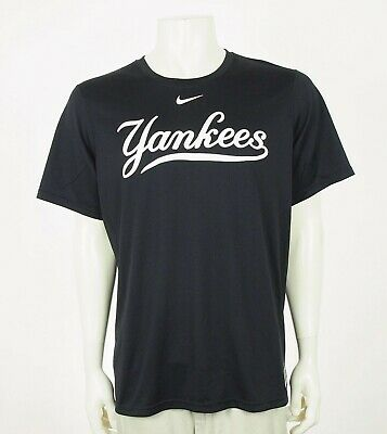 50dd27833 NIKE DRI FIT New York Yankees Logo MLB Baseball Shirt Men's Size L ...