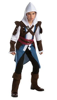 Nomad Hunter Assassin/'s Creed Muscle Fancy Dress Halloween Deluxe Child Costume
