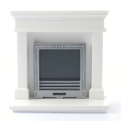 1/12 Streets Ahead Dolls House Modern white fireplace Surround DF970