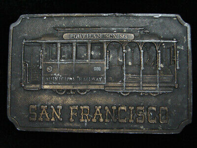 Pj01145 Vintage 1976 **San Francisco Cable Car** Commemorative Bergamot Buckle