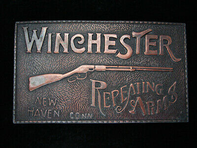 QL17119 VINTAGE 1970s **WINCHESTER REPEATING ARMS** GUN & FIREARM BELT BUCKLE