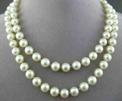 ESTATE SINGLE STRAND AAA NATURAL SOUTH SEA PEARL CLASSIC NECKLACE 8mm #21673